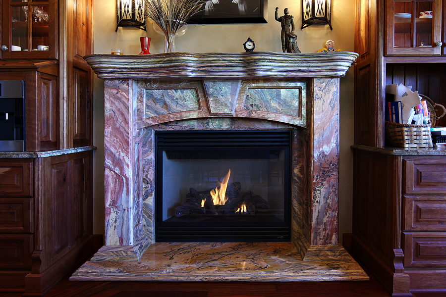 Fireplace granite